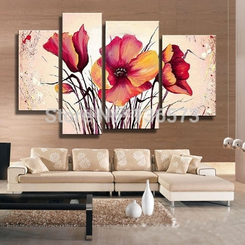 Hand Painted Large Canvas Art Cheap Modern Wall Art Decorative With Large Canvas Painting Wall Art (View 4 of 25)