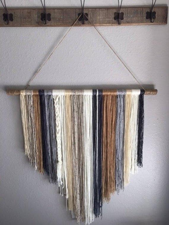 Handcrafted Yarn Wall Hanging Boho Wall Hanging Yarn Wall | Etsy Pertaining To Yarn Wall Art (Image 16 of 25)