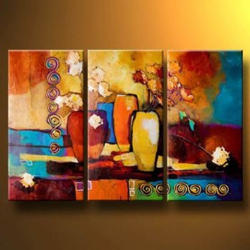 Handmade Oil Painting Canvas Modern Paintings Wall Decor Abstract In Modern Painting Canvas Wall Art (View 3 of 25)