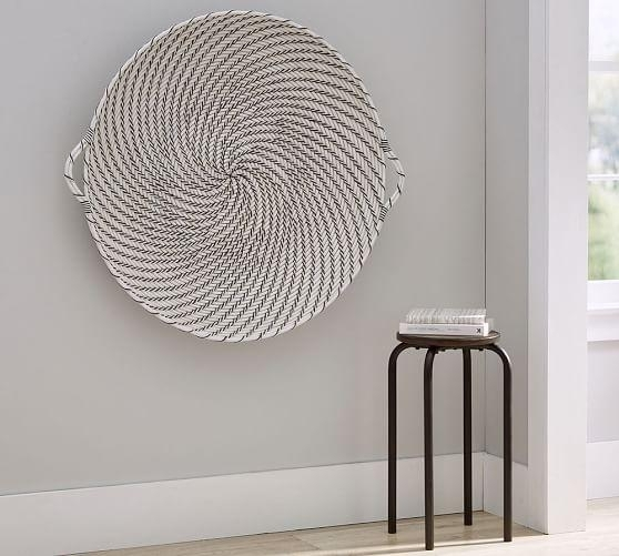 Hapao Black And White Basket Wall Art Inside Round Wall Art (Image 8 of 25)