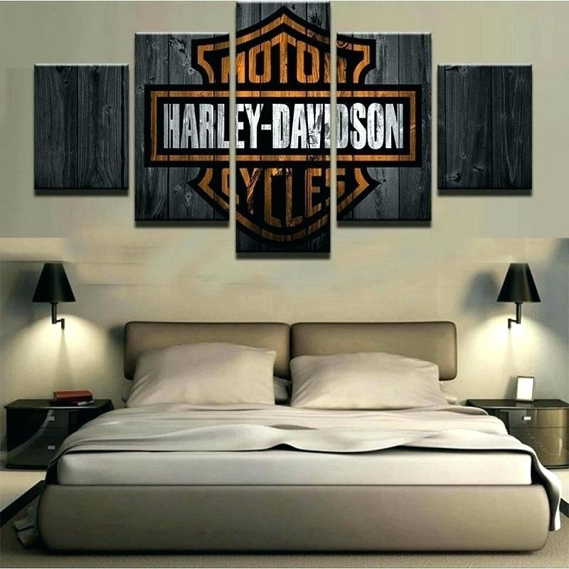 Harley Davidson Bedroom Decor Wall Art — Vermontwoodturning Home Inside Harley Davidson Wall Art (View 21 of 25)