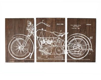 Harley Davidson Large Wall Art Wood Sign – $99.00 | Picclick Inside Harley Davidson Wall Art (Photo 8 of 25)