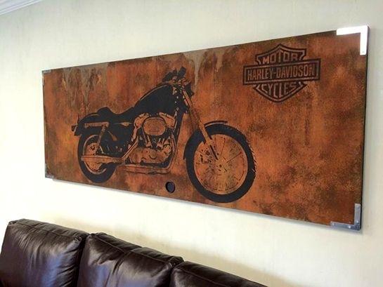 Harley Davidson Wall Art Harley Davidson Canvas Art Father S Day In Harley Davidson Wall Art (Image 14 of 25)