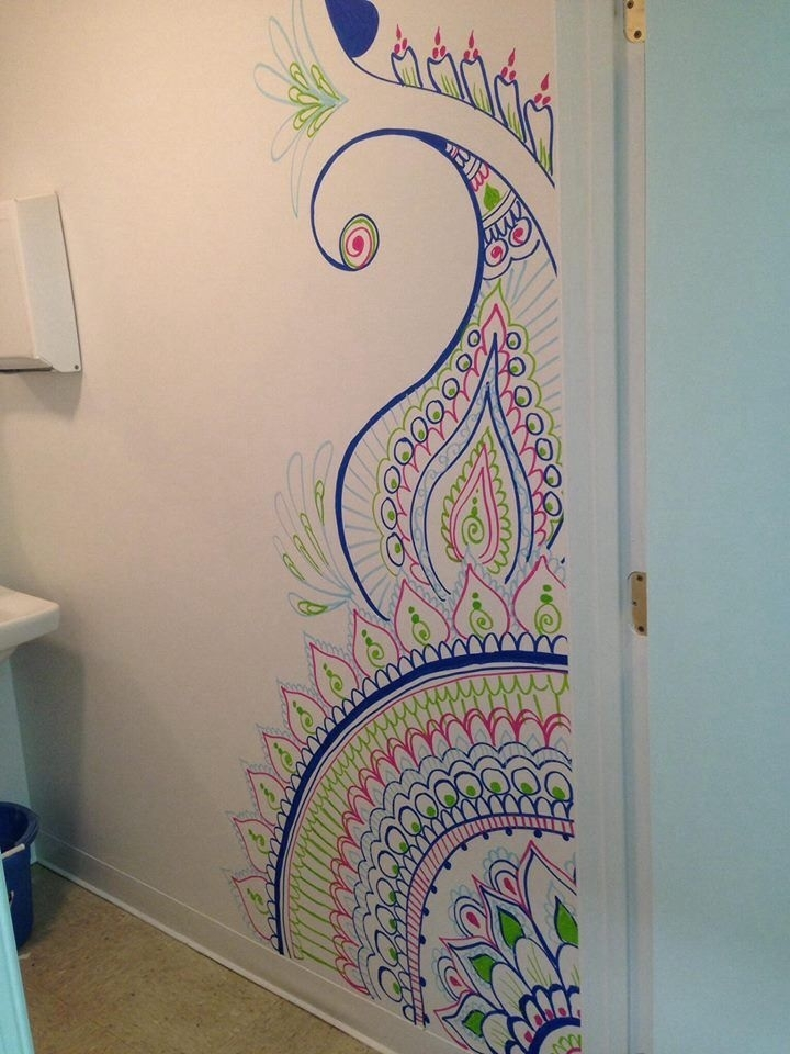 Henna Design Wall Art – Catwallart In Henna Wall Art (Image 14 of 25)