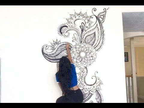 Henna Inspired Painting Time Lapse | Milan Mathew – Youtube With Regard To Henna Wall Art (Image 16 of 25)