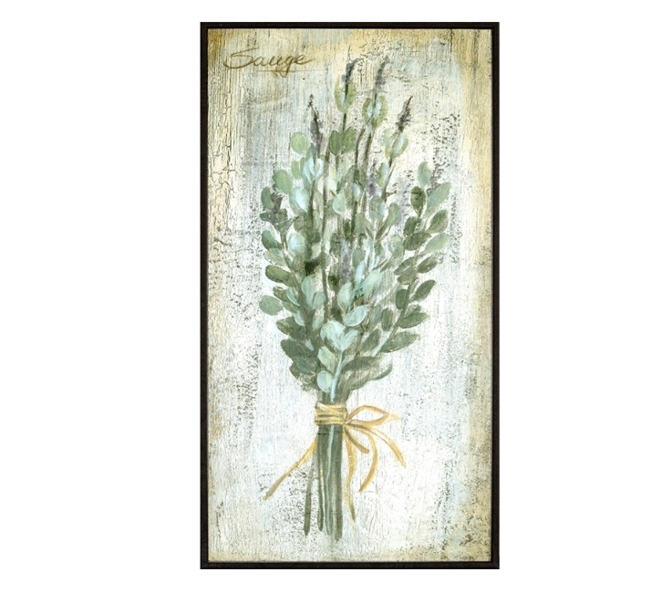 Herb (Sage) Framed Art | Salty Home Intended For Herb Wall Art (Image 5 of 20)