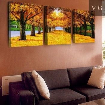 High Resolution Landscape Painting 3 Panel Canvas Wall Art – Buy Intended For 3 Piece Canvas Wall Art (Image 14 of 20)