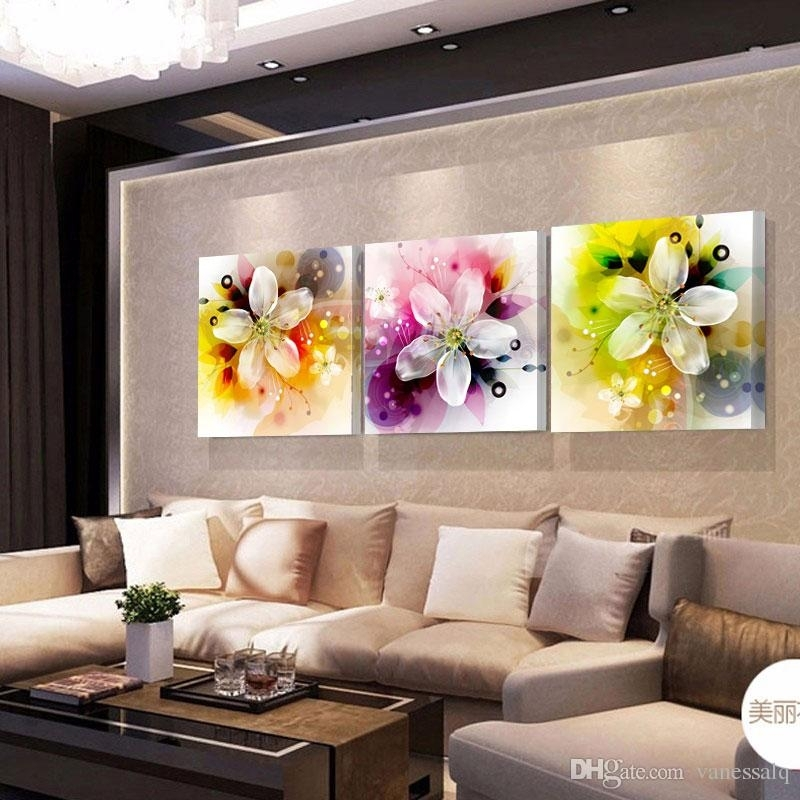 Home Decor Print Canvas Oil Painting Vintage Flower Wall Art Canvas Pertaining To Flower Wall Art (Image 10 of 20)