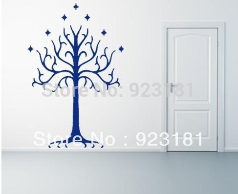 Home Decor Wall Sticker Lotr Lord Of The Rings White Tree Of Gondor Intended For Lord Of The Rings Wall Art (View 9 of 20)