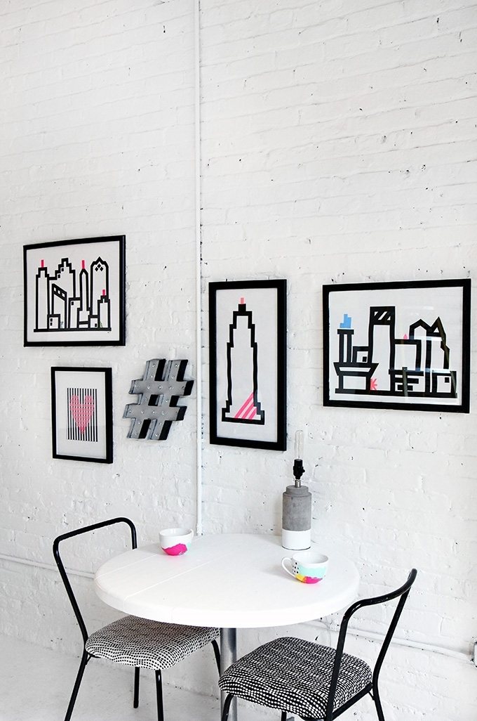 Home Diy | Washi Skyline Wall Art For Washi Tape Wall Art (View 12 of 20)