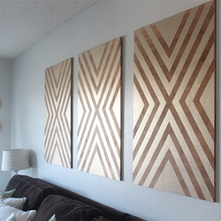 Home Dzine Home Decor | Make Your Own Chevron Wall Art Intended For Chevron Wall Art (Image 15 of 25)