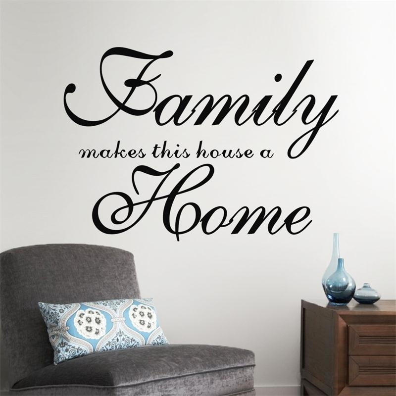 Home Garden Family Wall Art Quote Wall Sticker Vinyl Decal Home Art With Family Wall Art (View 3 of 10)