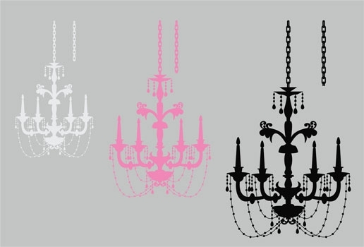 Home Graphics And Decor| Wall Decals & Stickers, Elegant Chandelier Pertaining To Chandelier Wall Art (Image 12 of 20)