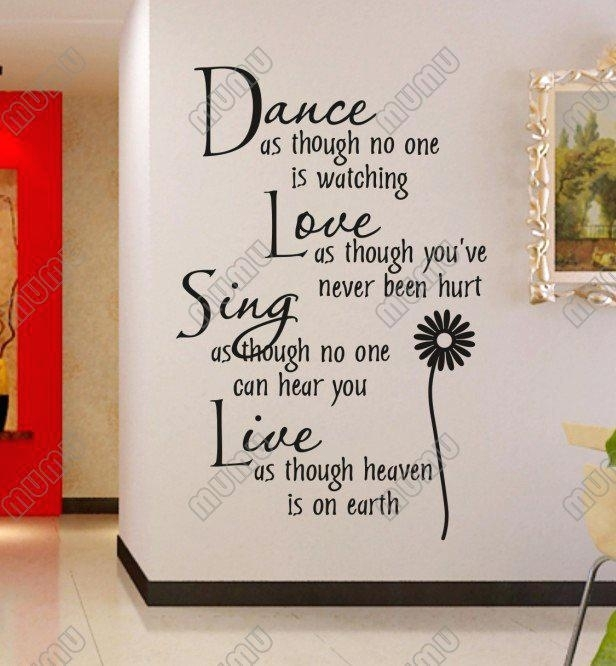 Home Sayings For Wall Wall Sticker Sayings Custom Vinyl Decals For Inside Wall Art Sayings (Image 6 of 25)