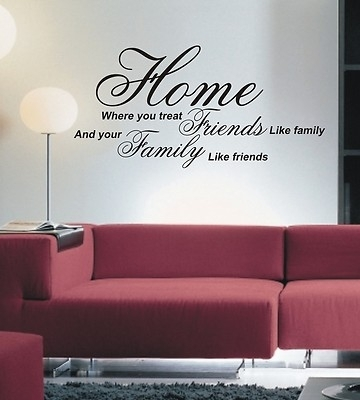Home Where You Treat Wall Art Sticker Quote – 4 Sizes – Wa15 Throughout Quote Wall Art (Image 9 of 25)