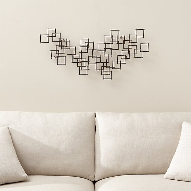Horizontal Metal Wall Art Extraordinary Squares Nail Reviews Crate Regarding Horizontal Wall Art (Image 4 of 25)