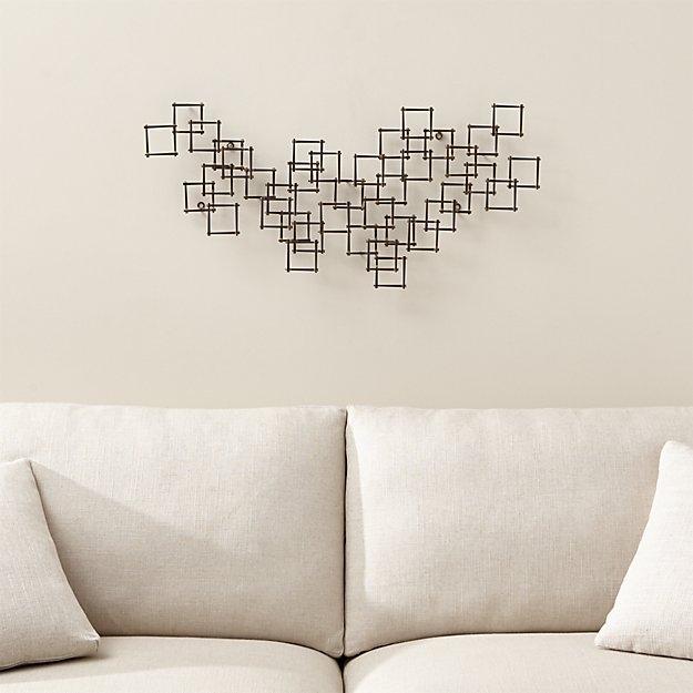 Horizontal Metal Wall Art Extraordinary Squares Nail Reviews Crate Regarding Horizontal Wall Art (Image 4 of 25)