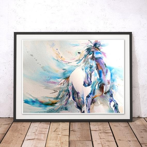 Horse Wall Art Fabulous Horses Decoration Ideas 985X719 Piquant Regarding Horses Wall Art (Image 7 of 20)