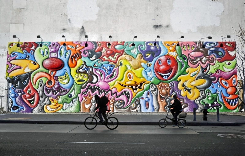 Houston Bowery Wall – Art, Mural, Keith Haring, New York City, Urban For Houston Wall Art (Image 8 of 25)