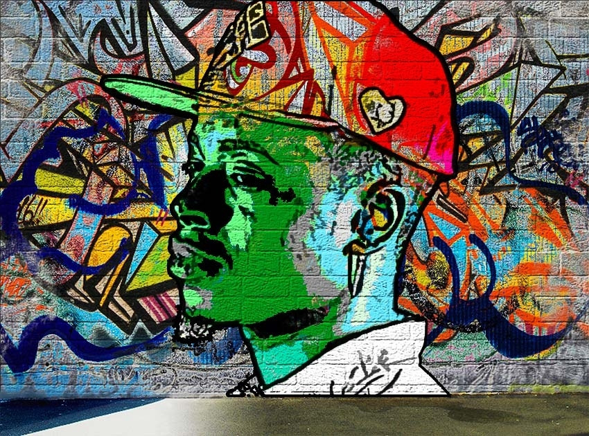 How To Create A Graffiti Effect In Adobe Photoshop Intended For Graffiti Wall Art (View 10 of 25)
