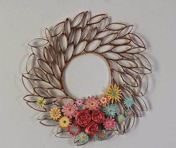 How To Diy Toilet Paper Roll Flower Wall Art Regarding Toilet Paper Roll Wall Art (View 10 of 25)
