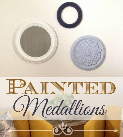 How To Make Painted Medallions Wall Decor – The Crafty Blog Stalker With Regard To Ceiling Medallion Wall Art (View 8 of 10)