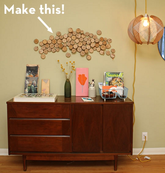 How To: Turn Logs Into Affordable Wall Art! | Curbly Throughout Affordable Wall Art (Image 18 of 25)