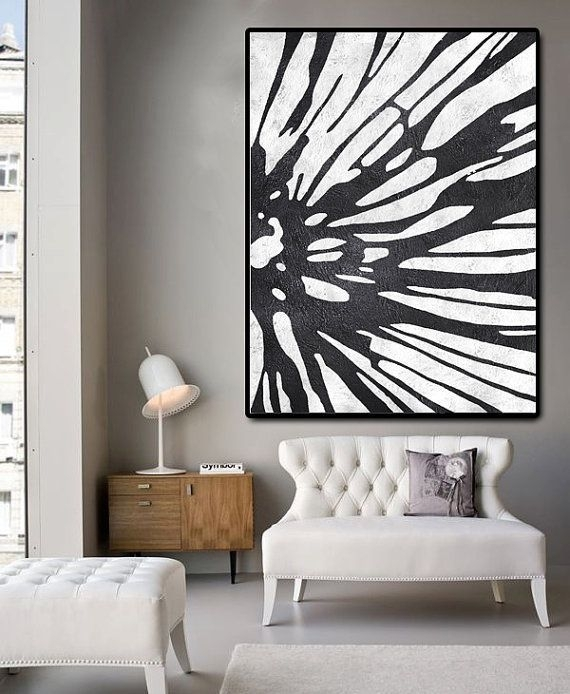 Huge Abstract Painting On Canvas, Vertical Canvas Painting, Extra Within Extra Large Wall Art (Image 12 of 20)