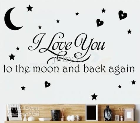 I Love You To The Moon And Back Again/wall Quote Decal Removable Inside I Love You To The Moon And Back Wall Art (View 6 of 20)