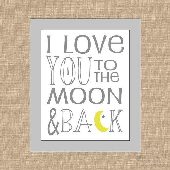I Love You To The Moon And Back Subway Art Children's Printable Inside I Love You To The Moon And Back Wall Art (View 9 of 20)