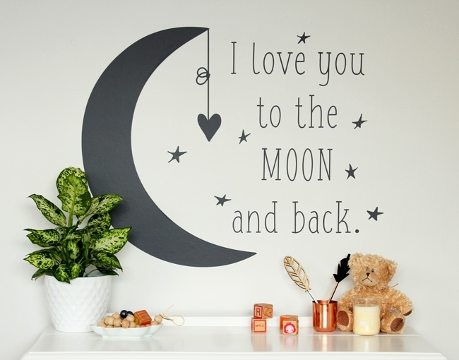 I Love You To The Moon And Back – Your Decal Shop | Nz Designer Wall With Regard To I Love You To The Moon And Back Wall Art (View 2 of 20)
