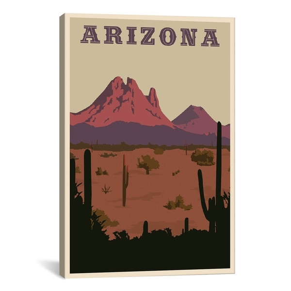 Icanvas Art Arizona Canvas Print Wall Art - Free Shipping On Orders with Arizona Wall Art