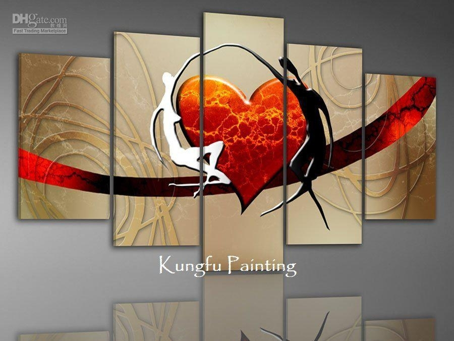 Impressive 100 Handmade Canvas Art Wall Art Set Canvas Painting Good Pertaining To Canvas Wall Art Sets (Image 8 of 10)