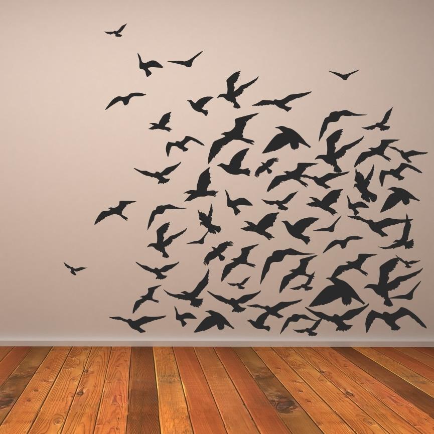 Impressive 30 Birds Wall Art Design Decoration Best 25 Bird Flying Inside Bird Wall Art (Image 6 of 10)