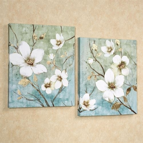 In Bloom Floral Canvas Wall Art Set For Floral Canvas Wall Art (View 13 of 25)