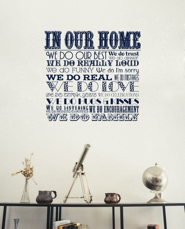 In Our Home - We Do Family | Sticker - Wall Art Company regarding Family Wall Art