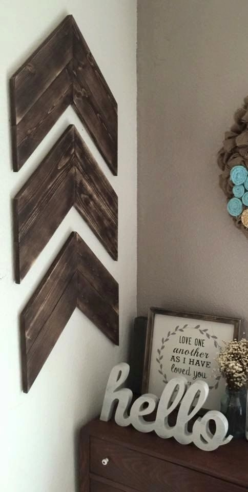 Incredible Design Ideas Chevron Wall Decor Diy Nursery Pa On Wood Throughout Chevron Wall Art (Image 17 of 25)