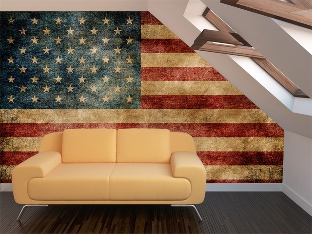 Incredible Ideas Vintage American Flag Wall Art Designing Home Mural Intended For Vintage American Flag Wall Art (Image 12 of 25)