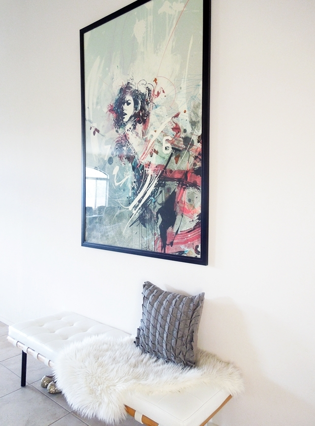 Inexpensive Large Wall Art Options | Desert Domicile In Shower Curtain Wall Art (Image 14 of 25)