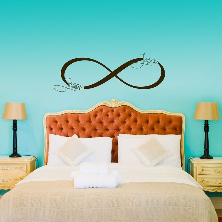 Infinity Symbol Monogram – Personalized Custom Wall Decals With Regard To Custom Wall Art (Image 15 of 20)