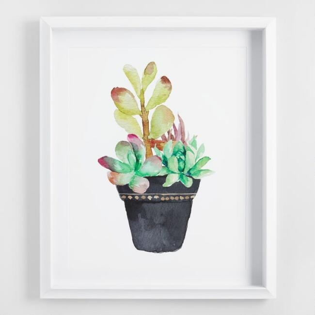 Innovation Ideas Cactus Wall Art Decoration Canvas Tapestry With Pertaining To World Market Wall Art (Image 11 of 25)