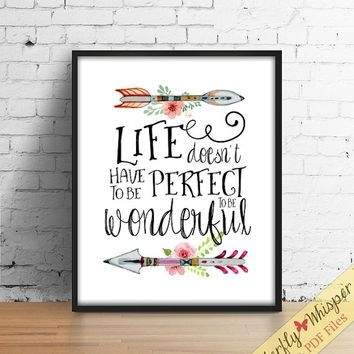 Inspirational Quote Wall Art Print, Tribal Wall Art, Canvas Quote In Inspirational Quotes Wall Art (View 4 of 25)