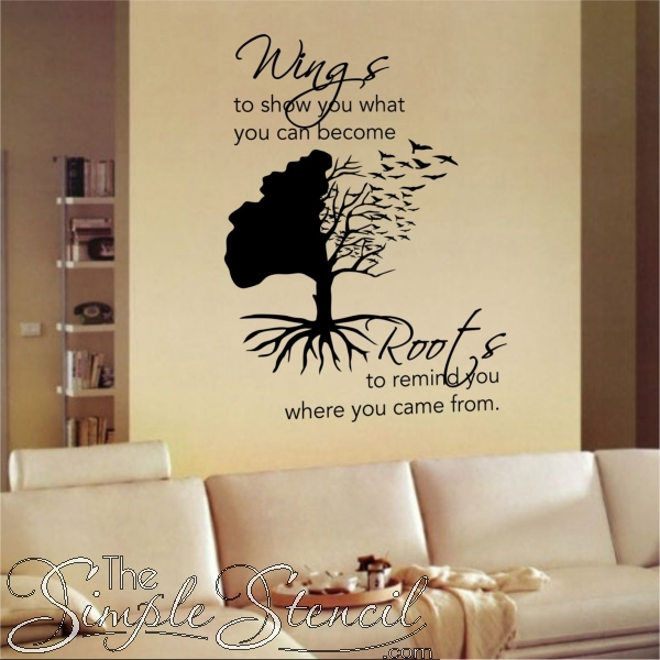 Inspirational Wall Quotes | Inspiring Wall Art Decals | Simple Stencils with regard to Inspirational Wall Art