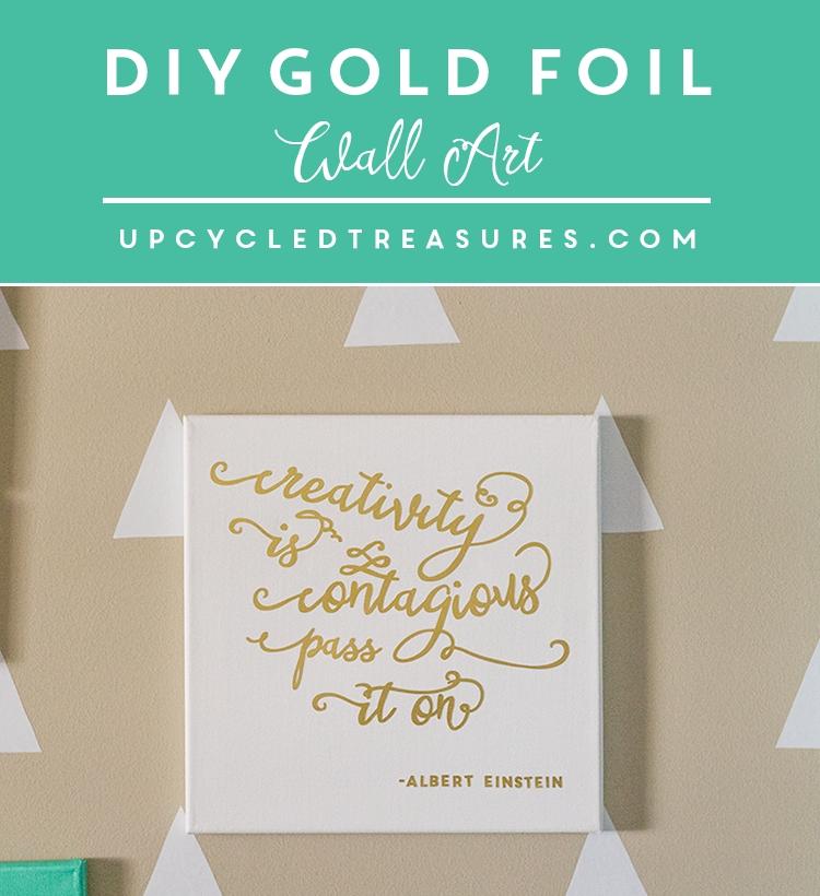 Inspiring Diy Gold Foil Wall Art | Mountainmodernlife Regarding Gold Foil Wall Art (View 3 of 25)