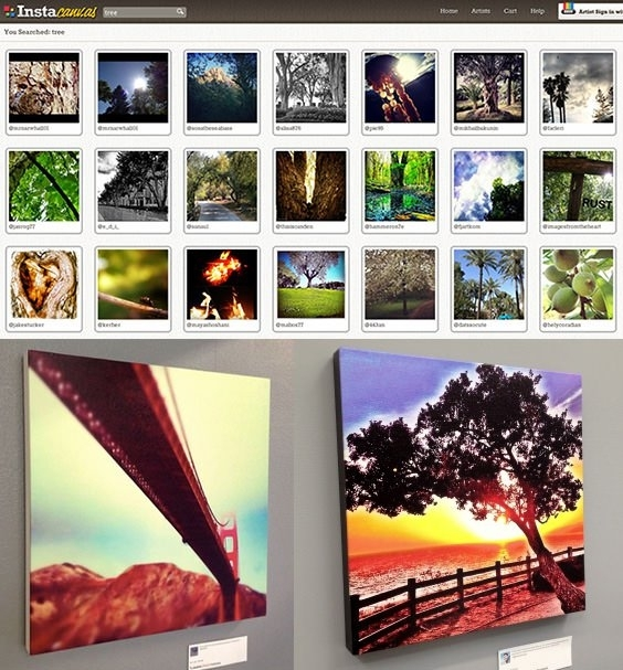 Instacanvas Turns Your Instagram Photos Into Sellable Wall Art In Instagram Wall Art (Image 9 of 20)