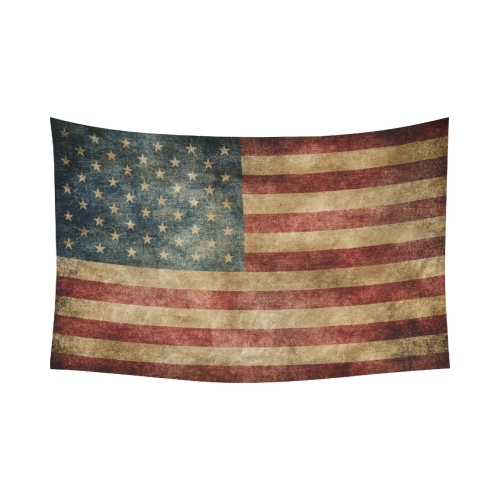 Interestprint Stars And Stripes Usa Flag Wall Art Home Decor Throughout Vintage American Flag Wall Art (View 25 of 25)