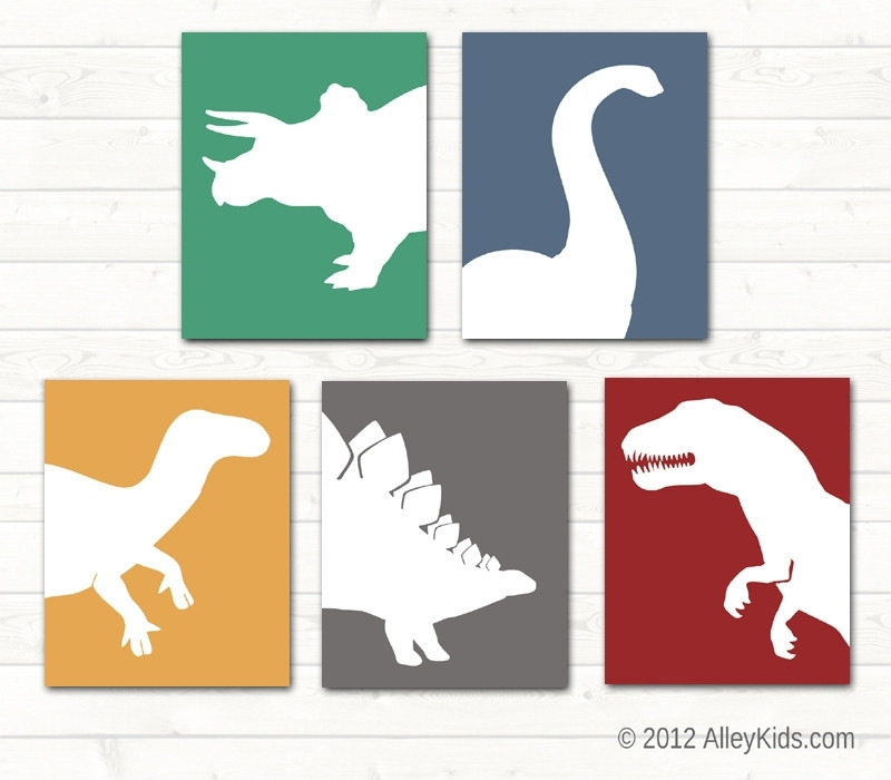 Interior. Dinosaur Wall Art: Dinosaur Wall Art Perfect Decoration with regard to Dinosaur Wall Art