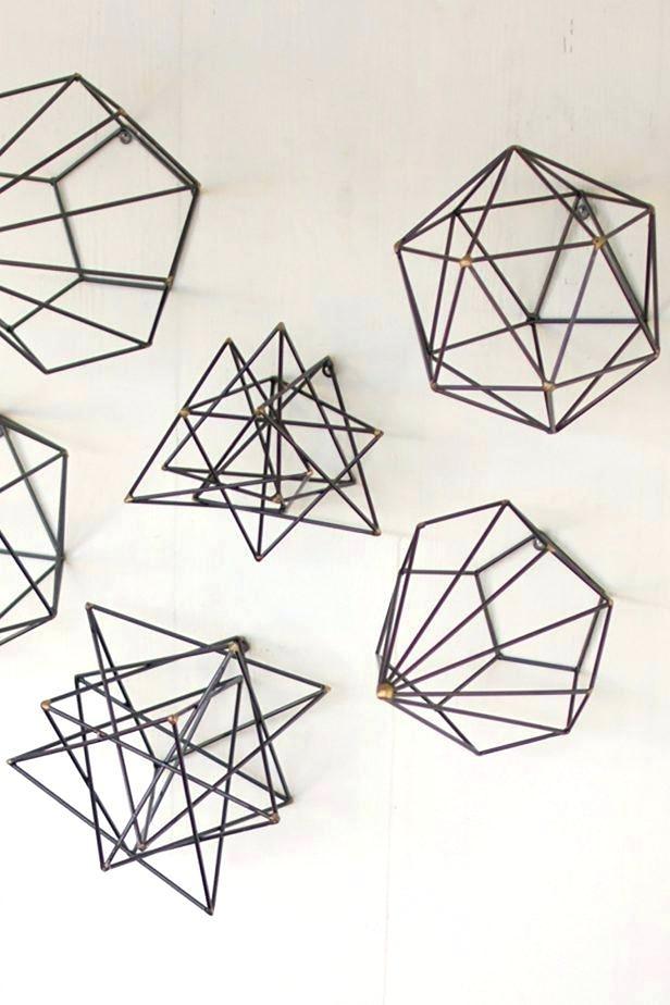Interior. Geometric Metal Wall Art: Geometric Metal Wall Art Decor within Geometric Metal Wall Art