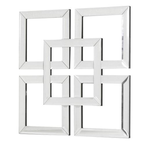 Interlocking Squares Mirror Art in Mirrored Wall Art