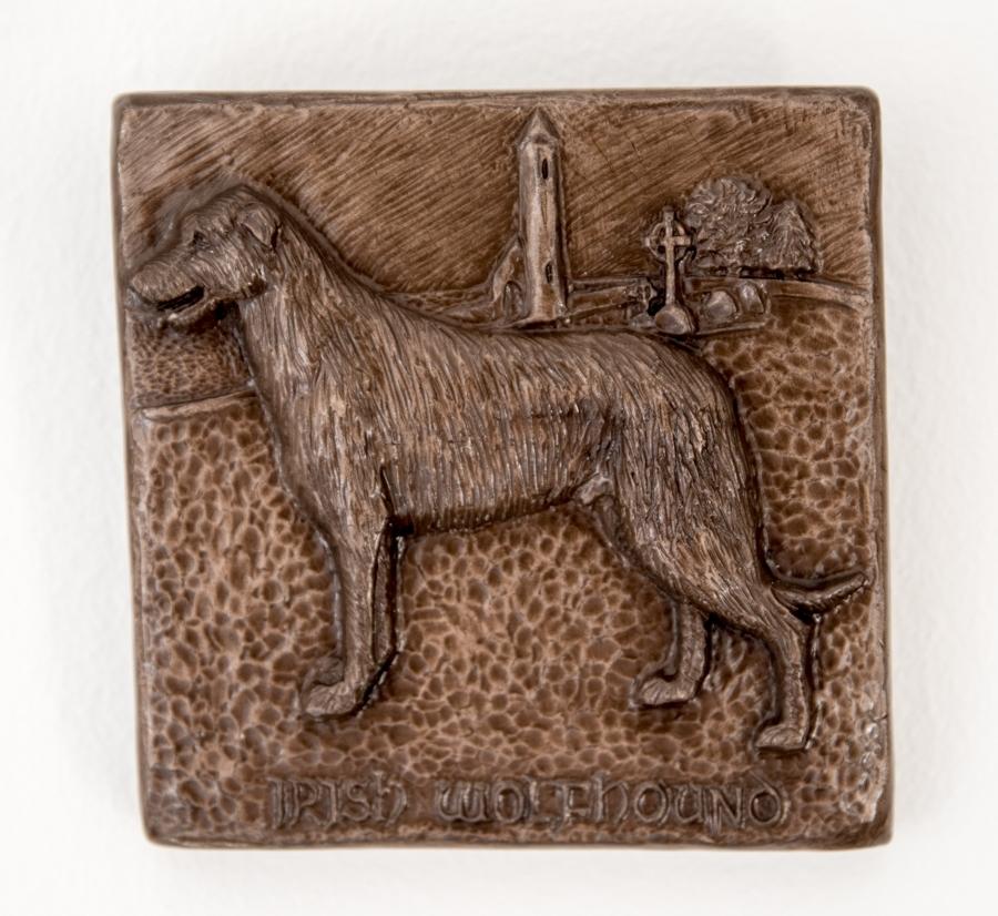 Irish Wolfhound Bronze Wall Art – The Irish Workshop With Bronze Wall Art (Image 14 of 25)